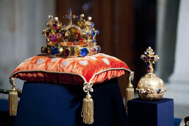 Tjeckiska kronajuvlar arkivfoton