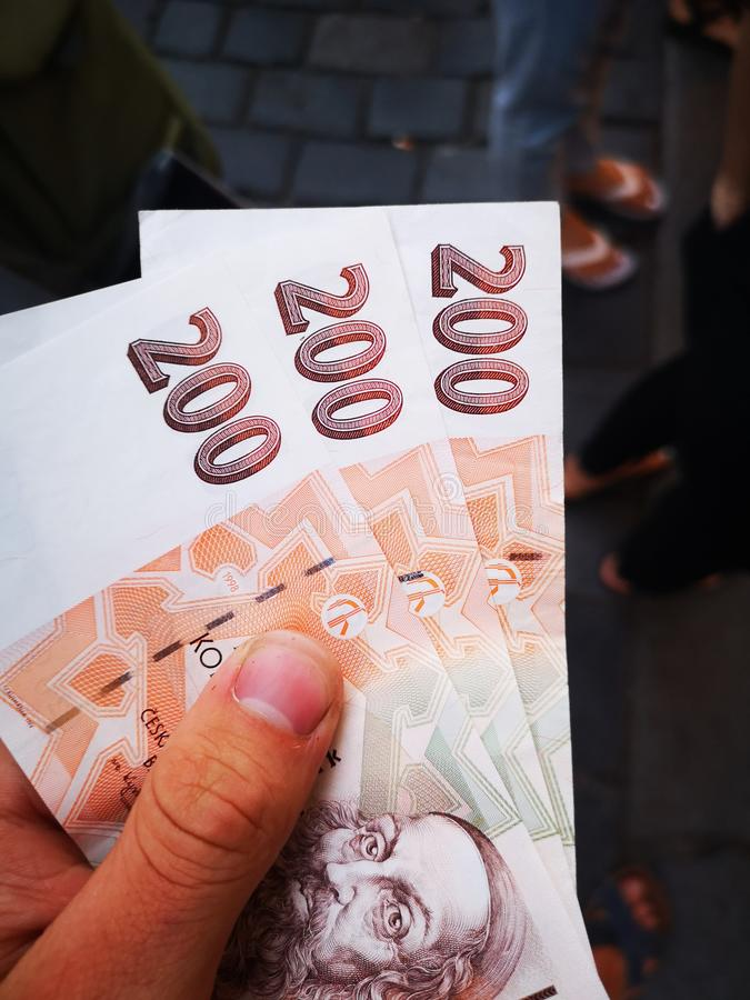 600 tjeckiska kronor royaltyfri foto