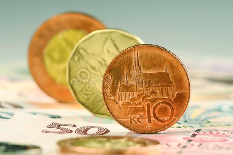 tjeckiska pengar royaltyfri fotografi