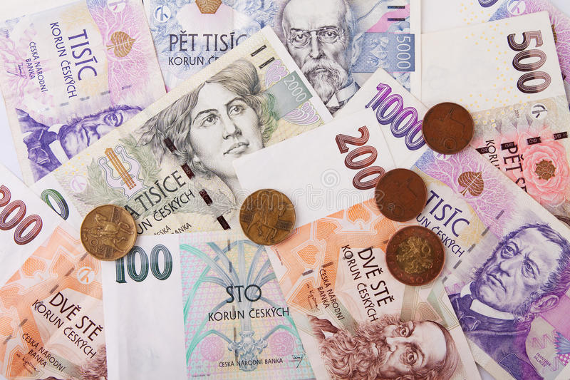 tjeckiska pengar royaltyfri bild