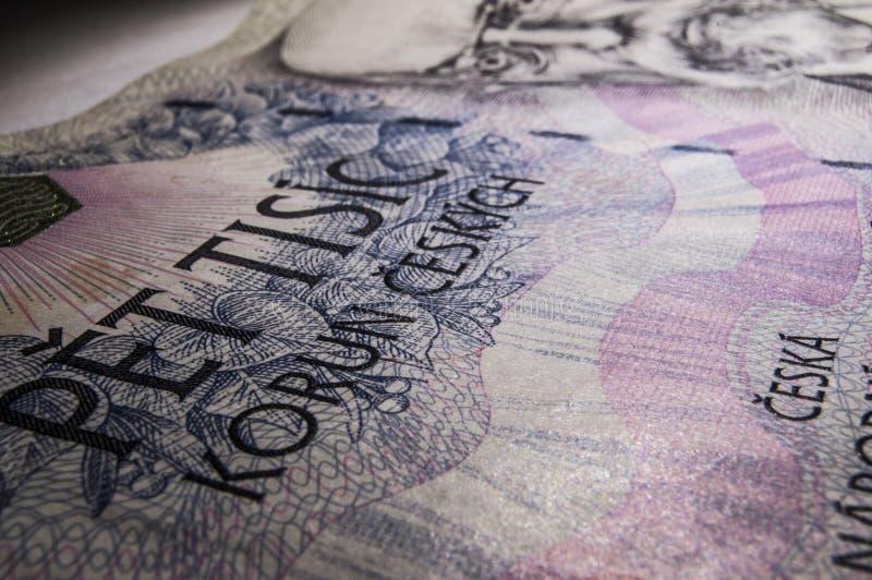 tjeckiska pengar arkivbilder