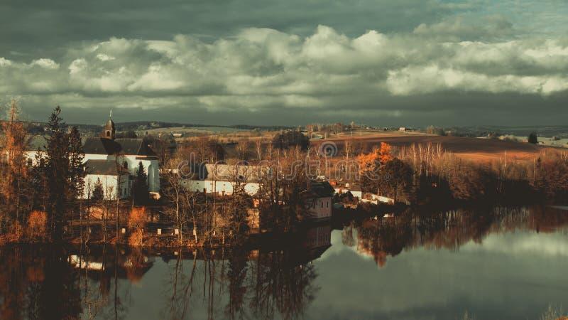 Tjeckiskt slott arkivfoto