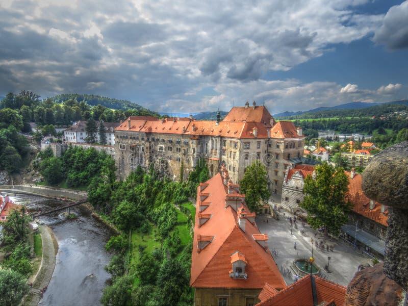 Tjeckiskt slott royaltyfria bilder