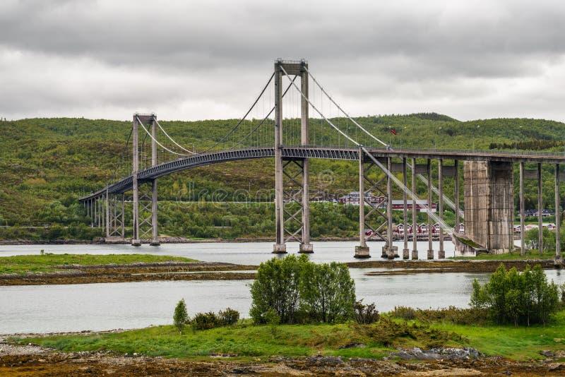 Tjeldsund桥梁,挪威 免版税图库摄影