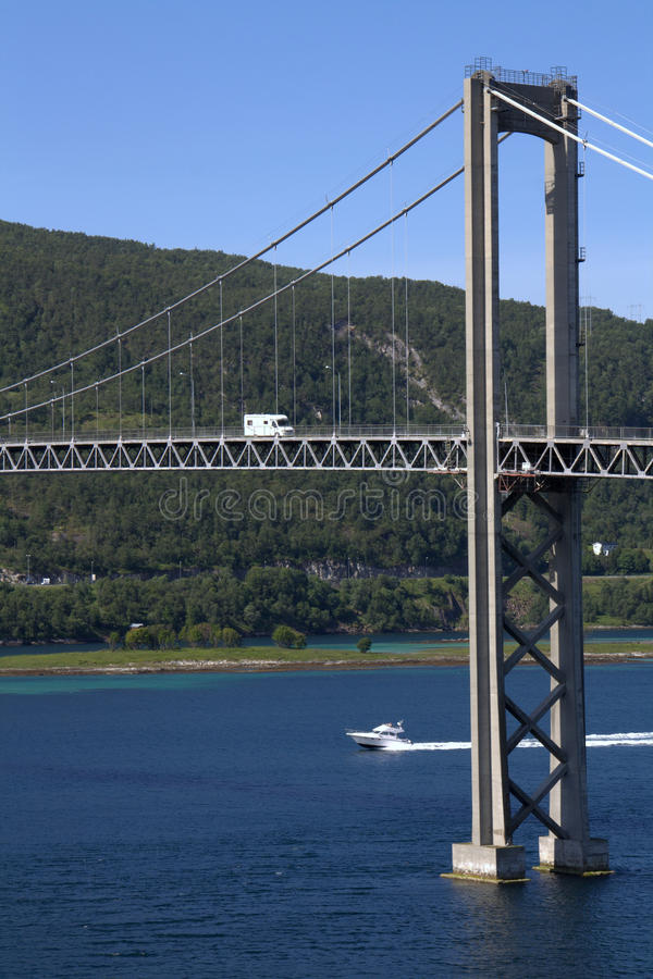 Download Tjerlsund Bridge, Norway stock image. Image of norway - 20317235