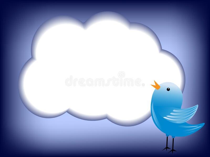 Tjirp wolk stock illustratie