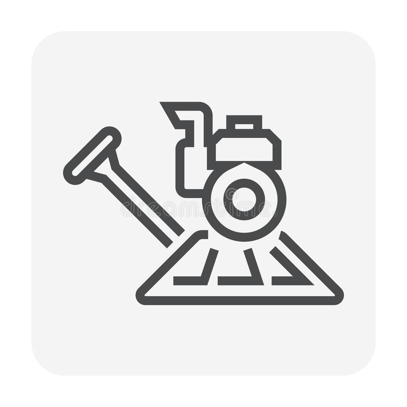 Tjock skivapolermedelutrustning vektor illustrationer
