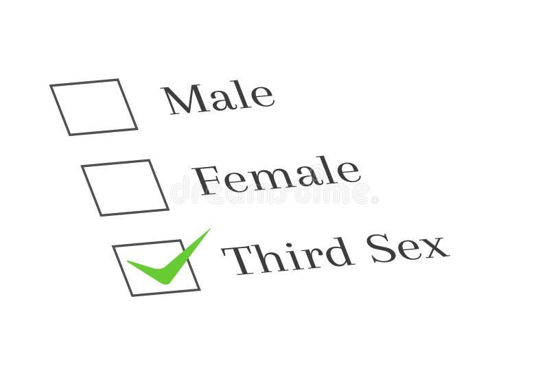 Tjockt bredvid tredje könsbestämma alternativ stock illustrationer