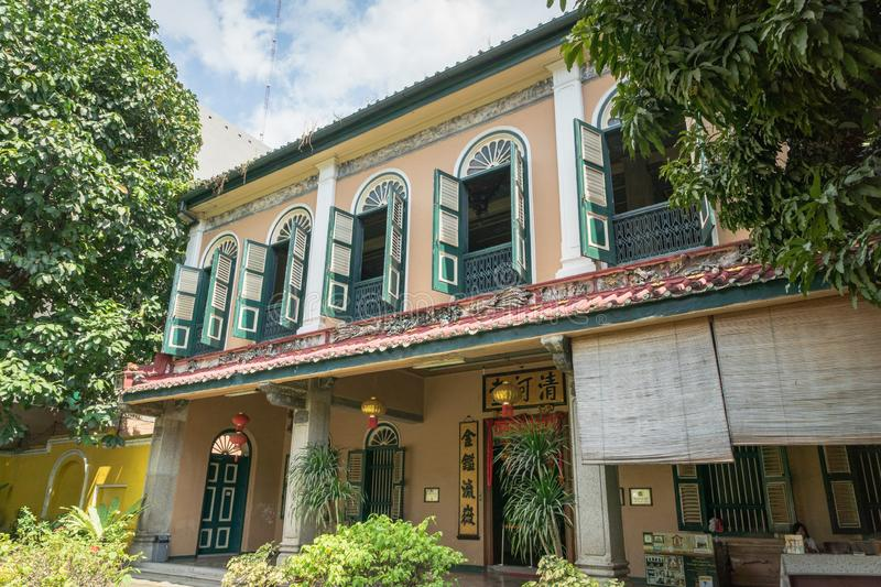 Tjong Fie Mansion in Medan stock afbeelding