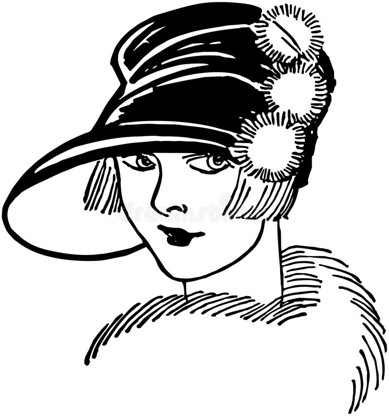 Tjugotal gal. vektor illustrationer