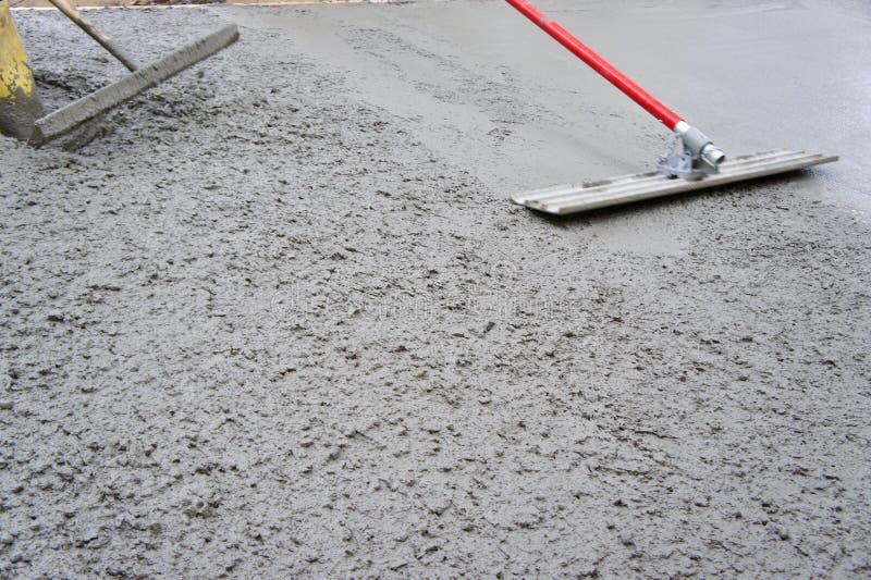 Tjur som svävar nytt hälld betong royaltyfri bild