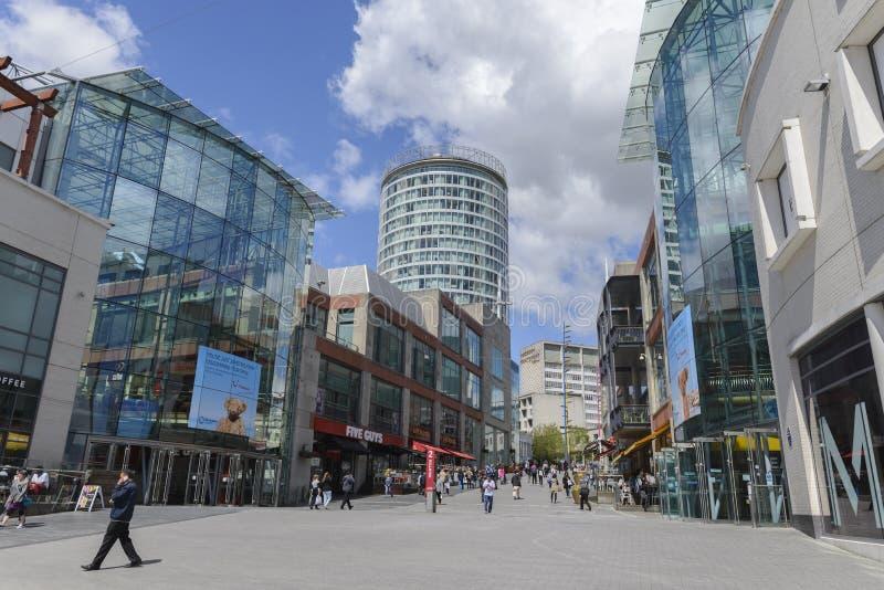 Tjuren Ring Shopping Centre, Birmingham fotografering för bildbyråer