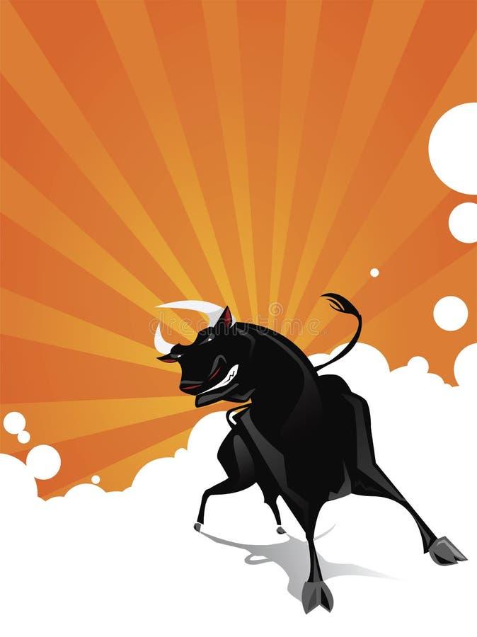 tjurvektor stock illustrationer