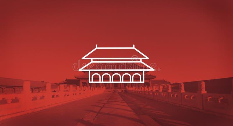 Tjusa begrepp för solljus för Forbidden City Pekingotta royaltyfri fotografi
