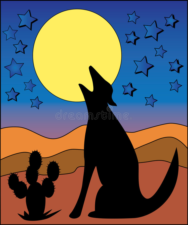 tjutamoonwolf vektor illustrationer
