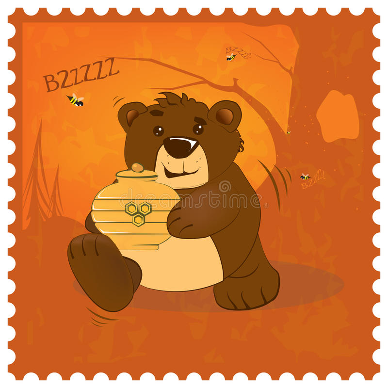 Tjuv för nallebjörn royaltyfri illustrationer