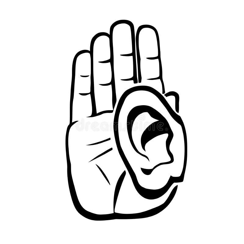 tjuvlyssnande stock illustrationer