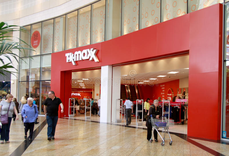 Download TK Maxx shop in a mall editorial stock image. Image of glasgow - 26314364