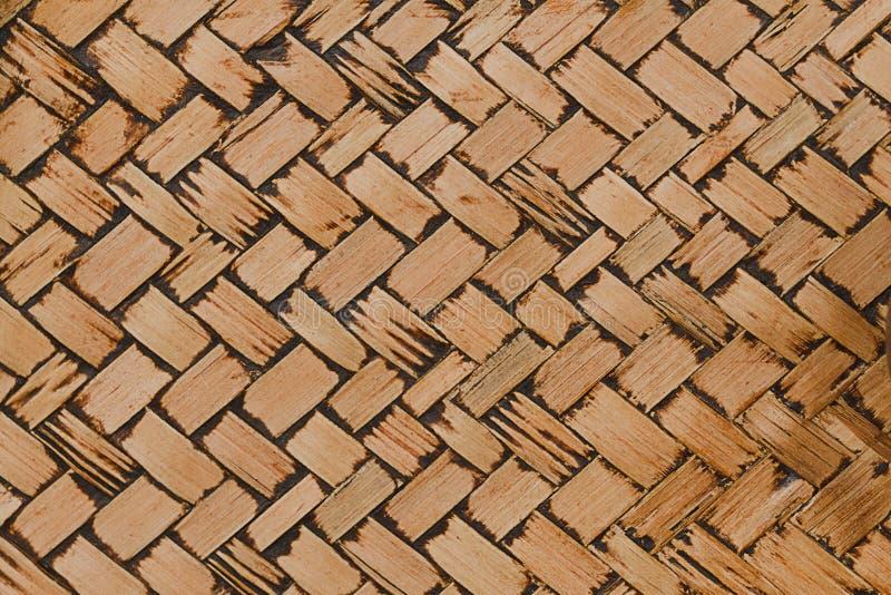 Tkana bambusowa tekstura dla wzoru i tła fotografia royalty free