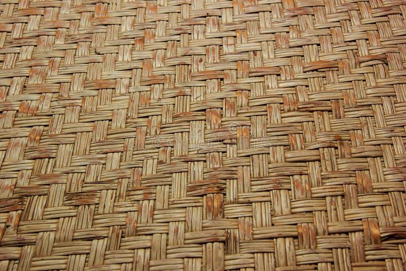 Tkana drewniana bambus ściana obraz stock