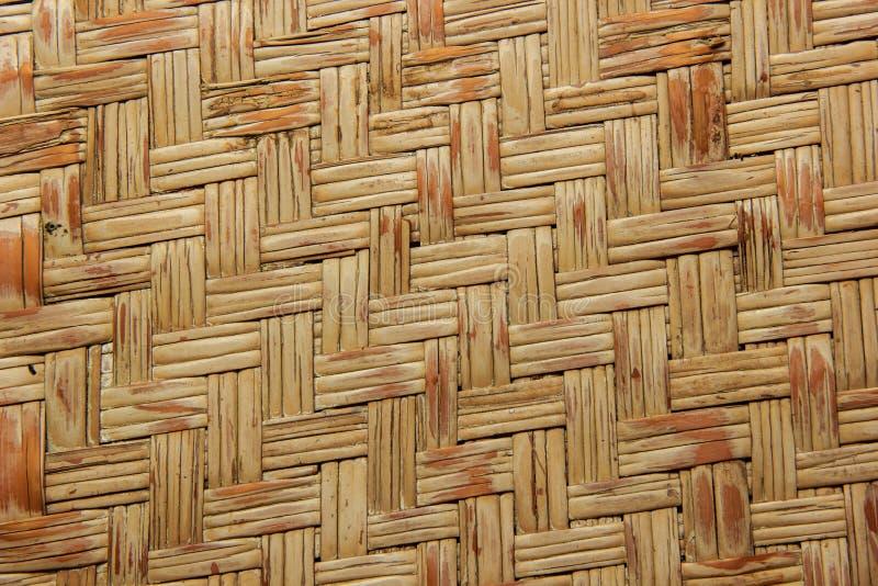 Tkana drewniana bambus ściana obraz royalty free