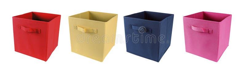 Tkanin składowi pudełka odizolowywający na bielu obraz royalty free