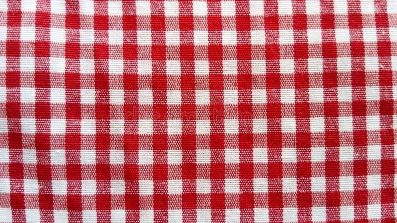 Tkanina bawełniana do obrusów Mała komórka białoczerwona z prostopadłym przecięciem linii zdjęcie royalty free