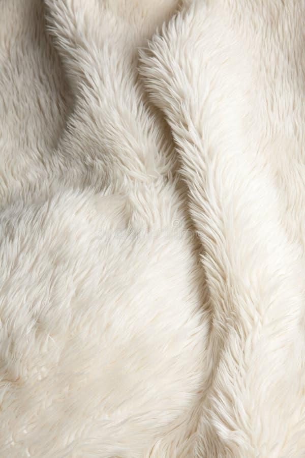 tkanina biel sfałszowany puszysty futerkowy zdjęcie royalty free