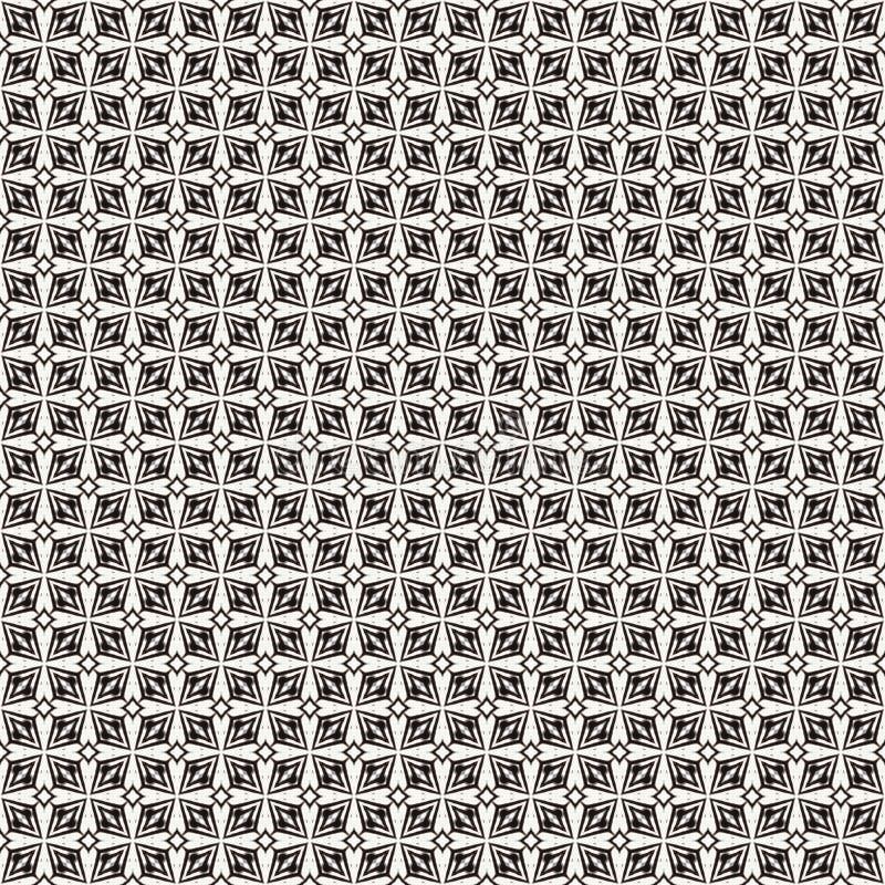 Tkanina druk Geometryczny wzór w powtórce Bezszwowy tło, mozaika ornament, etniczny styl ilustracja wektor