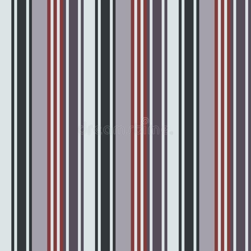 Tkanina koloru Retro stylu lampasów bezszwowy wzór Abstrakcjonistyczny vect royalty ilustracja
