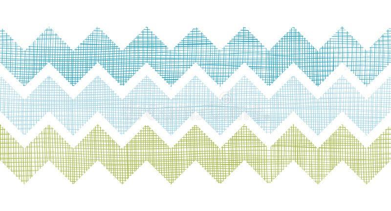 Tkanina textured szewron paskuje horyzontalnego bezszwowego deseniowego tło ilustracji