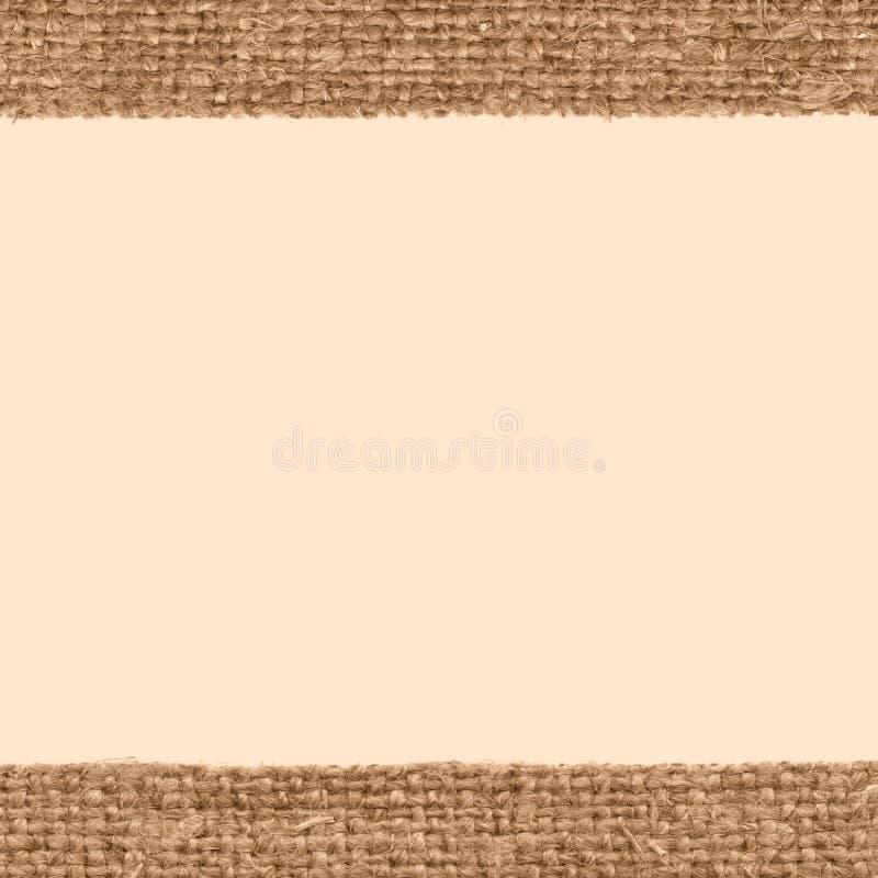 Tkanina wzór, tkaniny łata, brown kanwa, artysty materiał, domowy tło zdjęcia stock