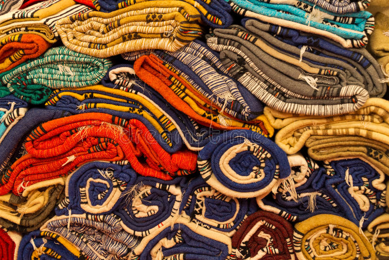 Tkanina wzory w Morocco zdjęcia royalty free