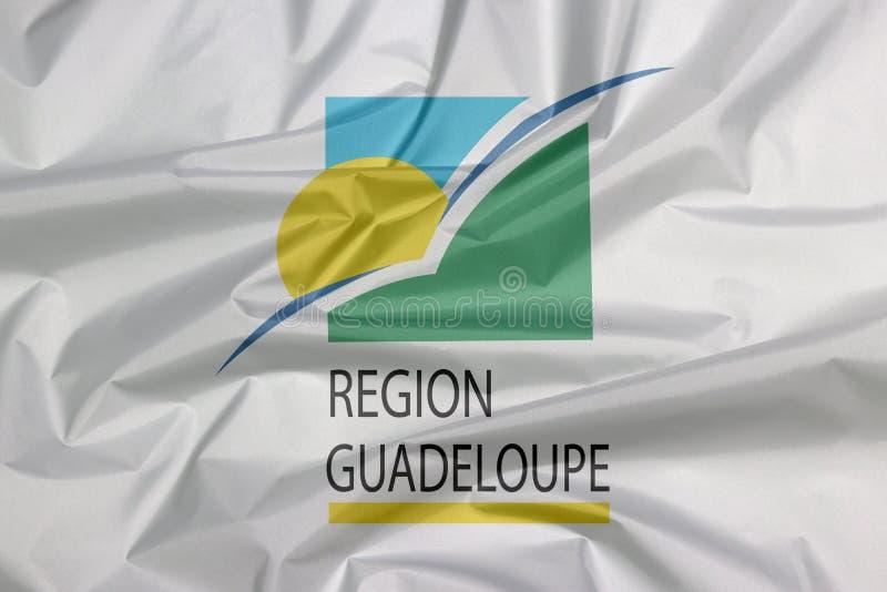 Tkaniny flaga Guadeloupe region Zagniecenie Guadeloupe regionu flagi tło obraz royalty free
