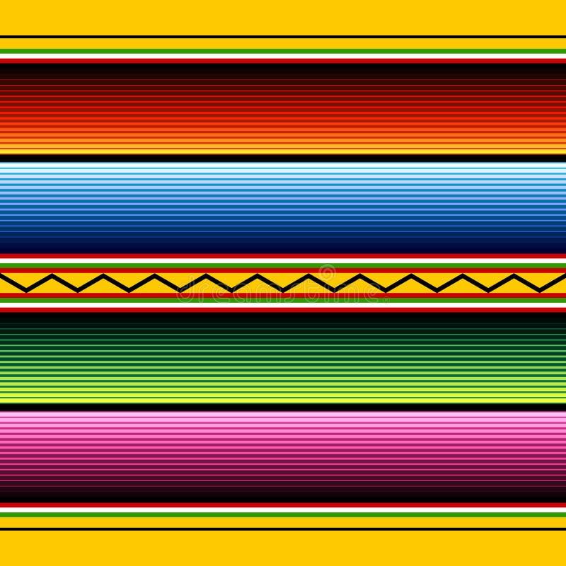 tkaniny meksykanina wzór royalty ilustracja