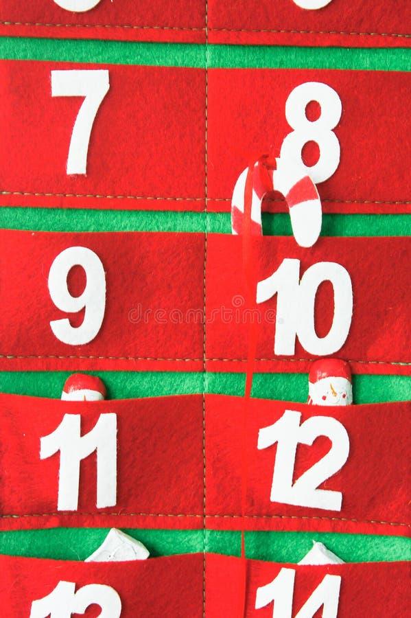 Tkaniny nastania kalendarz zdjęcie stock