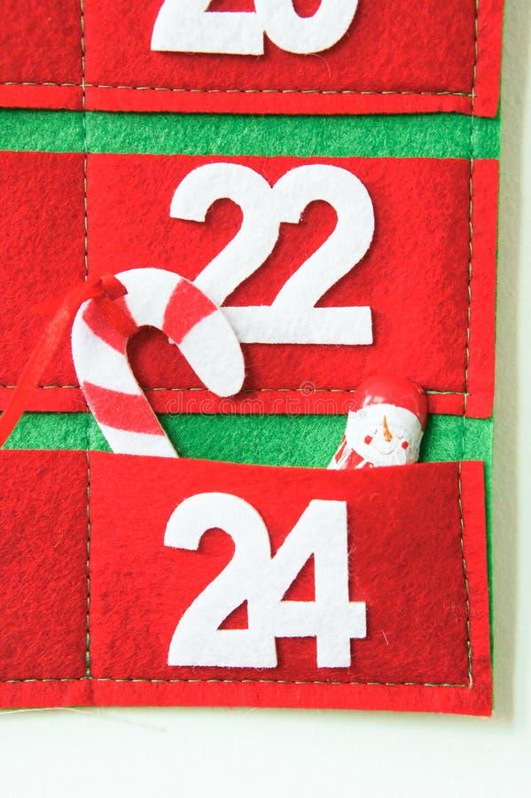 Tkaniny nastania kalendarz obrazy stock