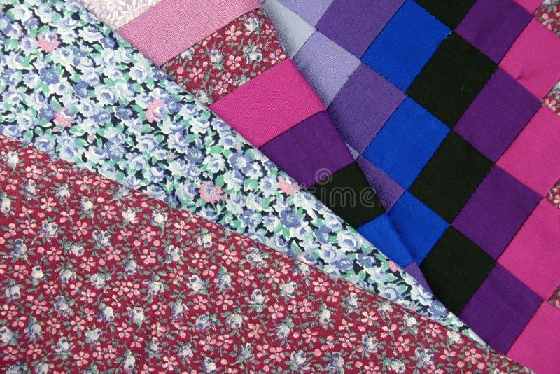 tkaniny patchwork obraz royalty free