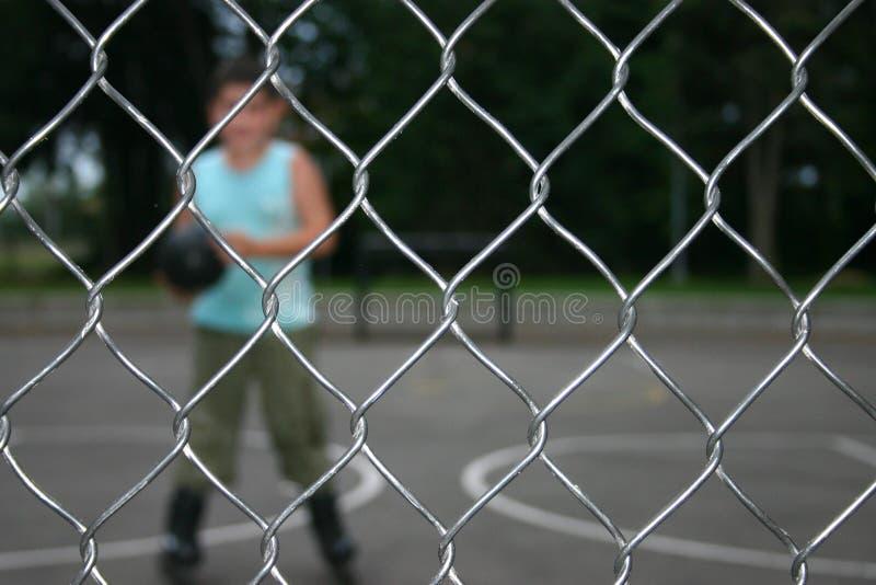 tkaniny sieciowej płotu kabel sportu zdjęcia royalty free