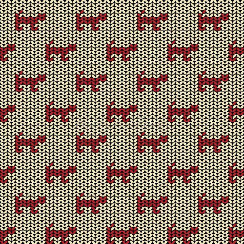 Tkaniny tła bezszwowy wzór z sylwetką ilustracja wektor