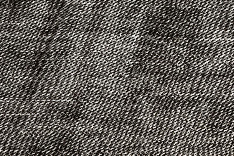 Tkaniny tła drelichowa czarna tekstura obraz stock