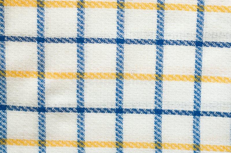Tkaniny tekstura, chequered wzór fotografia royalty free