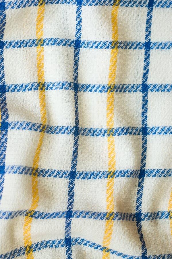 Tkaniny tekstura, chequered wzór zdjęcie stock