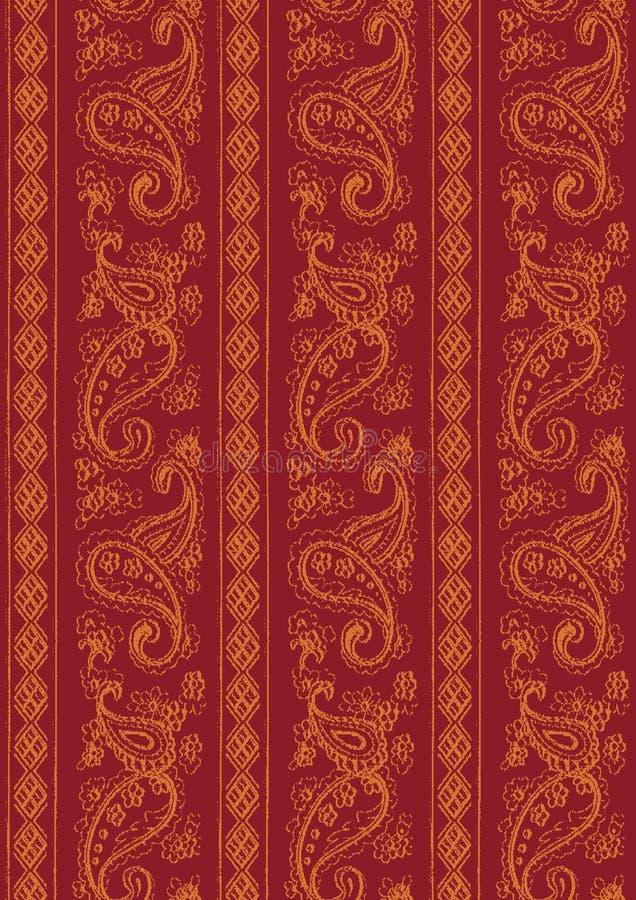 tkaniny tekstury indyjski modularny brzmienie dwa ilustracji