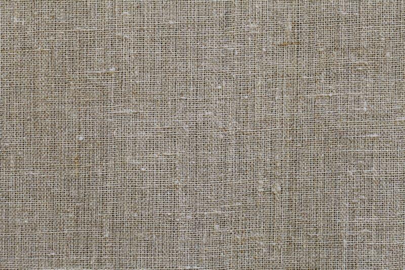 Tkaniny tekstury zbliżenia beżowy brown burlap zdjęcia stock