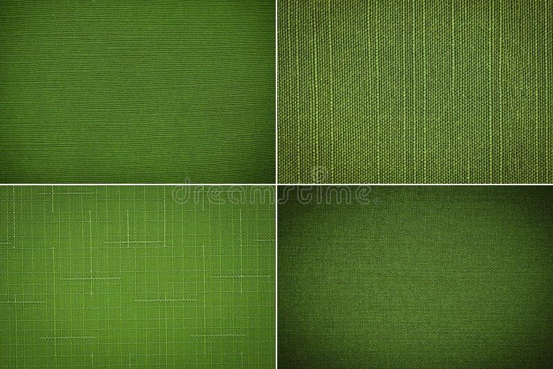 Tkaniny tekstury zieleń zdjęcia royalty free