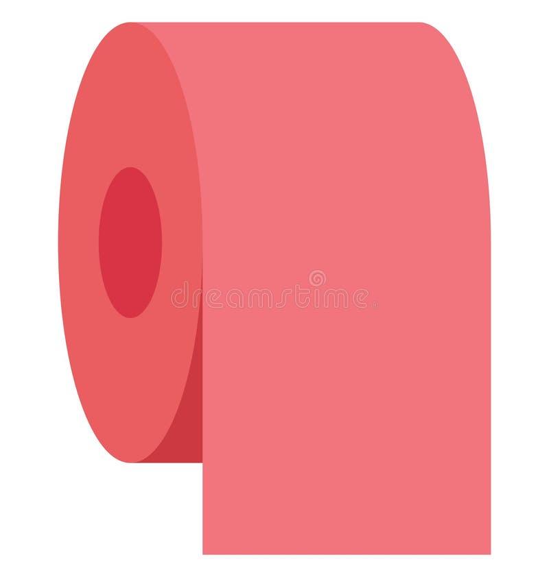 tkankowa rolka, tkankowy papier, Odosobniona Wektorowa ikona tkankowy papier która może łatwo redagować tkankową rolkę lub modyfi ilustracja wektor
