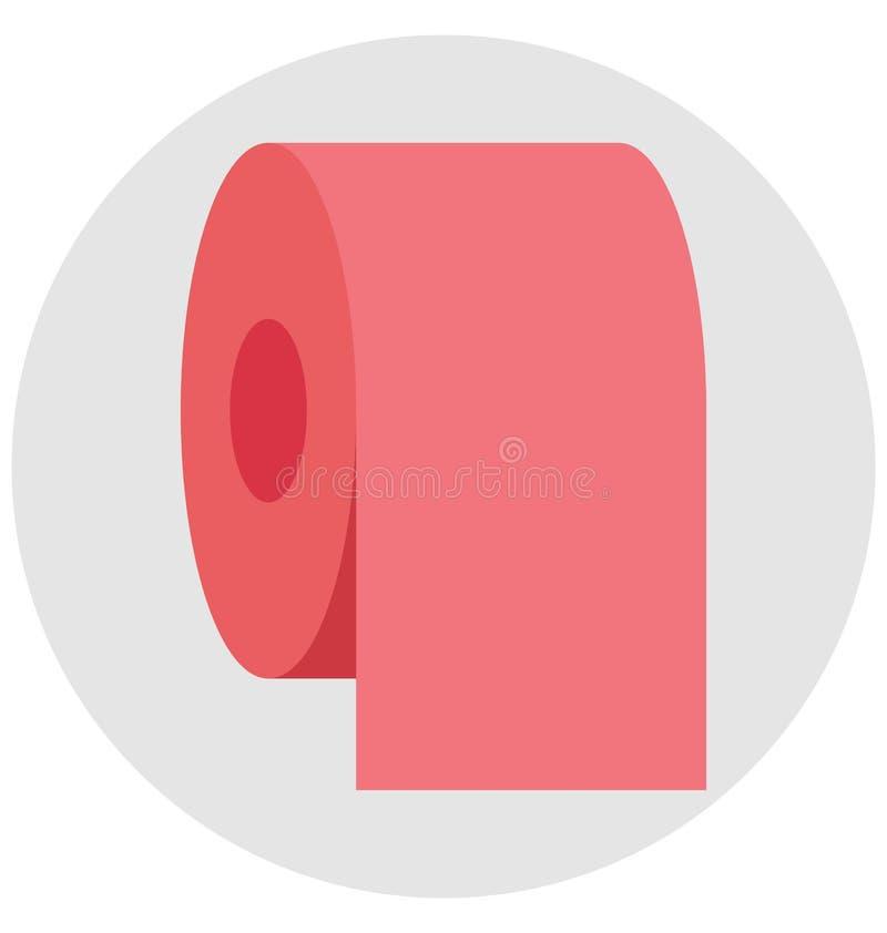 tkankowa rolka, tkankowy papier, Odosobniona Wektorowa ikona tkankowy papier która może łatwo redagować tkankową rolkę lub modyfi royalty ilustracja