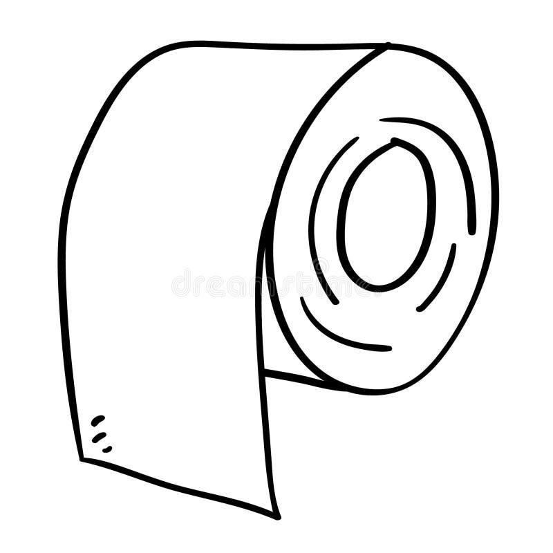 Tkankowego papieru ręka rysująca, wektor, Eps, logo, ikona, sylwetki ilustracja crafteroks dla różnego używa Odwiedza mój stronę  ilustracja wektor