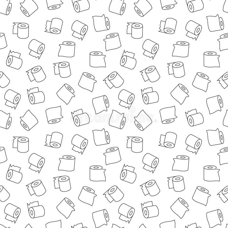 Tkankowego papieru wektorowy minimalny liniowy bezszwowy wzór ilustracji